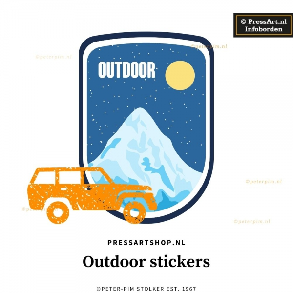 Outdoor sticker eigen formaat (tot 7 jr.)